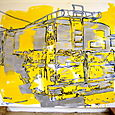 yellow schoolbus-gloss on canvas120x18Ocm'05