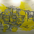 YELLOW BUS- oil on paper, 153x220cm'05