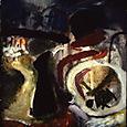 cemetary- oil on canvas, 220x173cm
