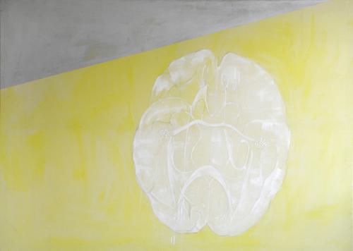 Brain on the beach-acrylic on canvas,182x240cm'98