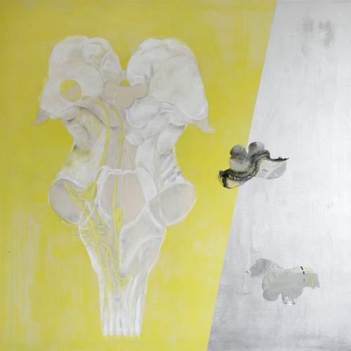 Medulla 2b;acrylic+acetate on canvas,182x182cm,'98