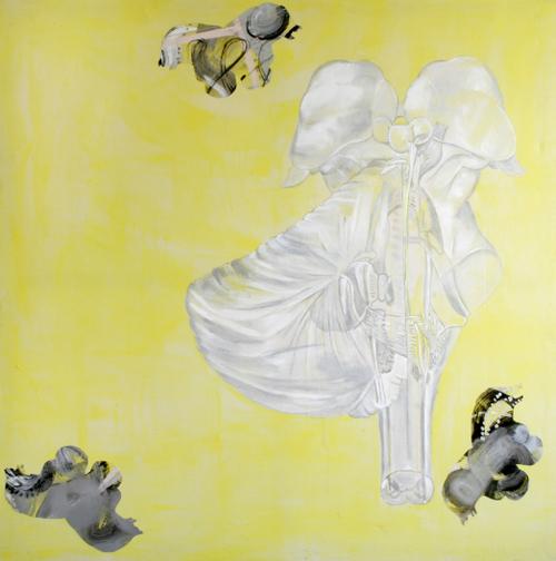 Medulla 3,acrylic+acatate on canvas182x182cm'98