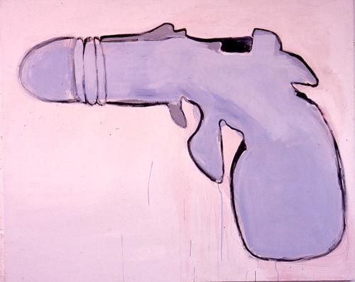 GUNnr1-emulsion on canvas152x182cm,'96