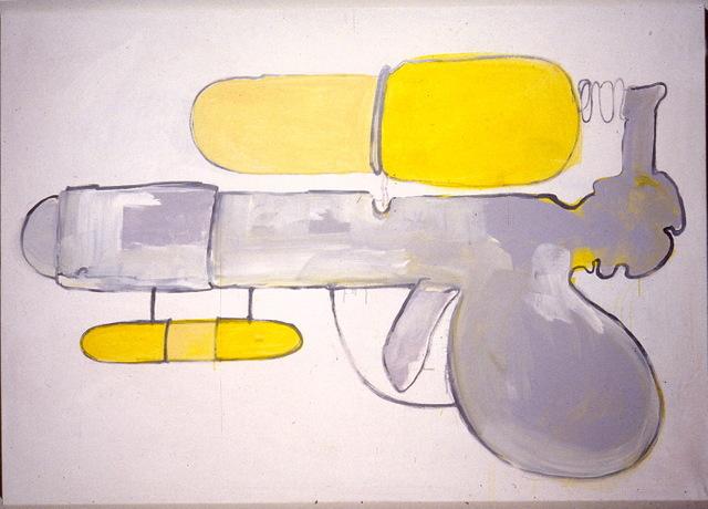 bubblegun-emulsion on canvas,153x183cm '02