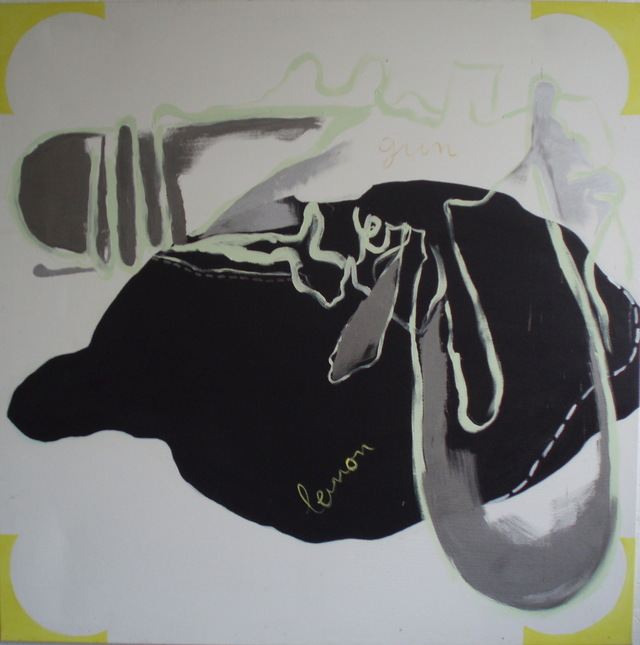 lemon gun, gloss on canvas'99