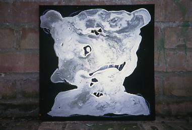 dammage-gloss on canvas,35x35cm'01