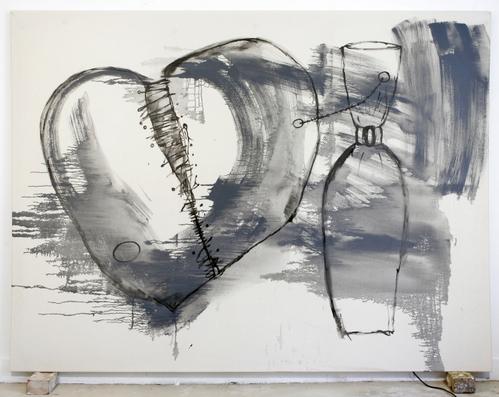 broken heart,gloss on canvas,182x242cm,'07
