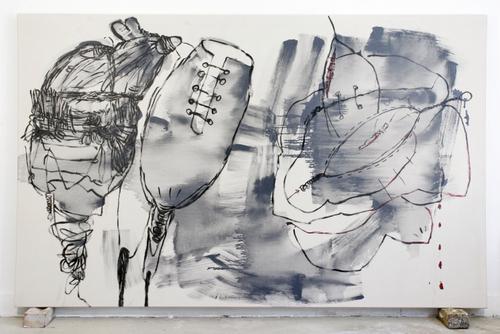 preditors-gloss on canvas,152x242cm'07