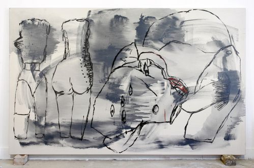 the letch,gloss on canvas152x242cm'07