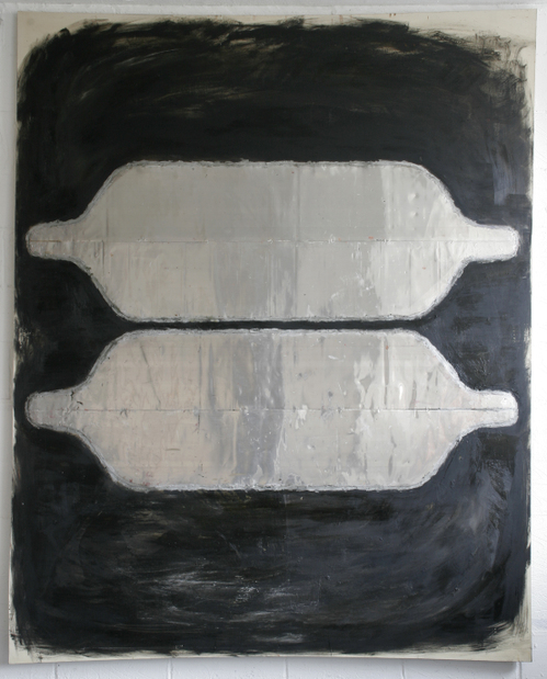 still voice;254x203cm,oil metal encaustic on canv.