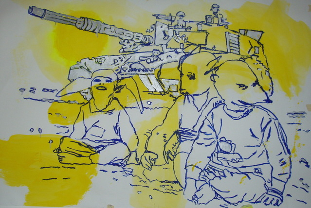 RATS- gloss on paper,150x180cm'05