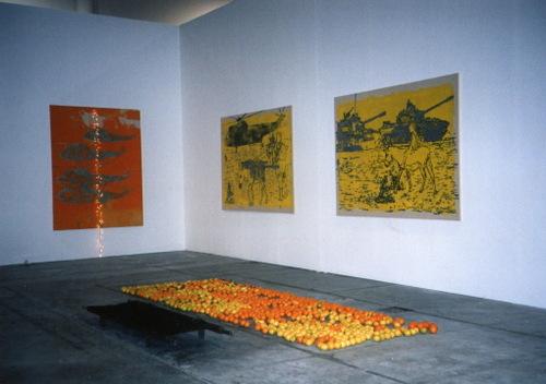 sharjah,studded fields,installation shot'03