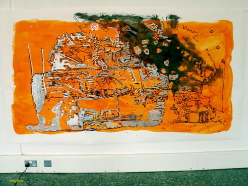 TANGERINE TANK- gloss on paper,150x240cm,'03